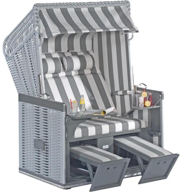 strandkorb nordsee silber holz grau dessin 70. Black Bedroom Furniture Sets. Home Design Ideas