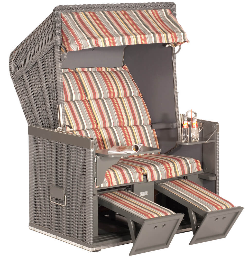 strandkorb konsul onix holz grau dessin duo raya grau. Black Bedroom Furniture Sets. Home Design Ideas