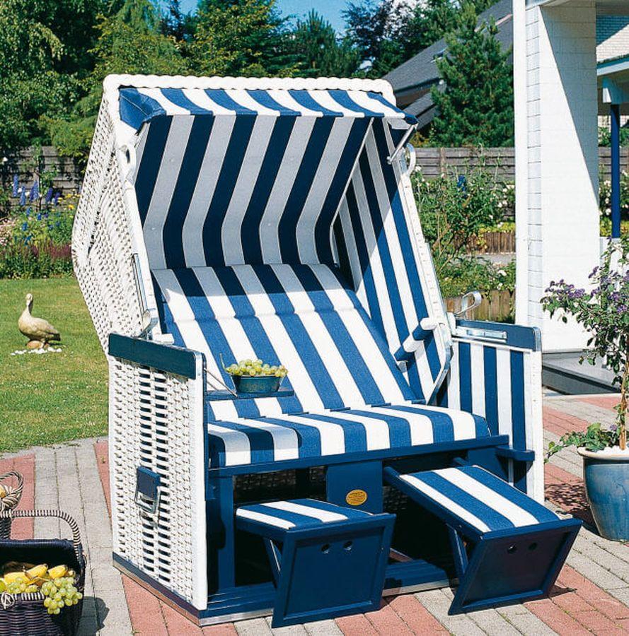 strandkorb nordsee wei holz blau dessin 20. Black Bedroom Furniture Sets. Home Design Ideas