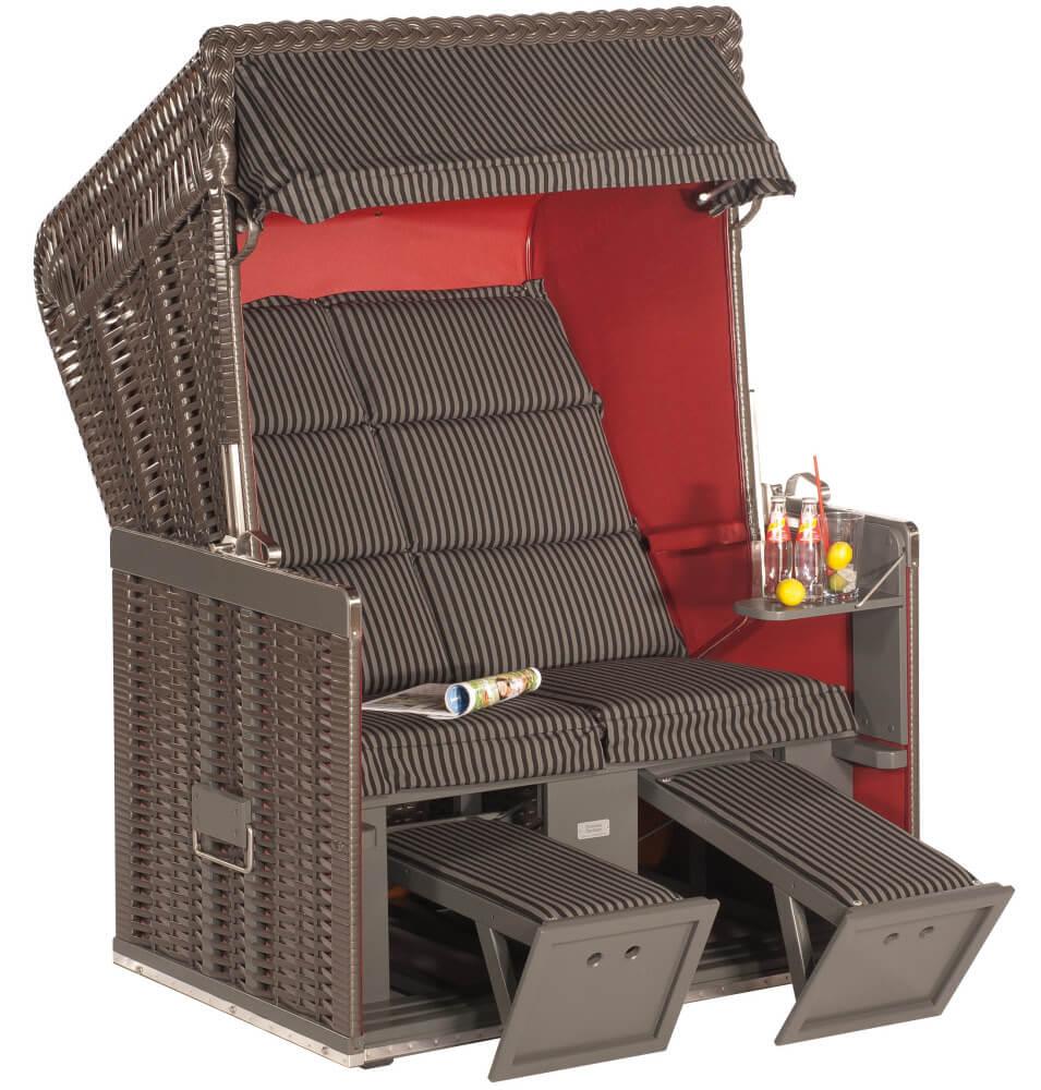 strandkorb konsul anthrazit holz grau dessin duo bajo. Black Bedroom Furniture Sets. Home Design Ideas