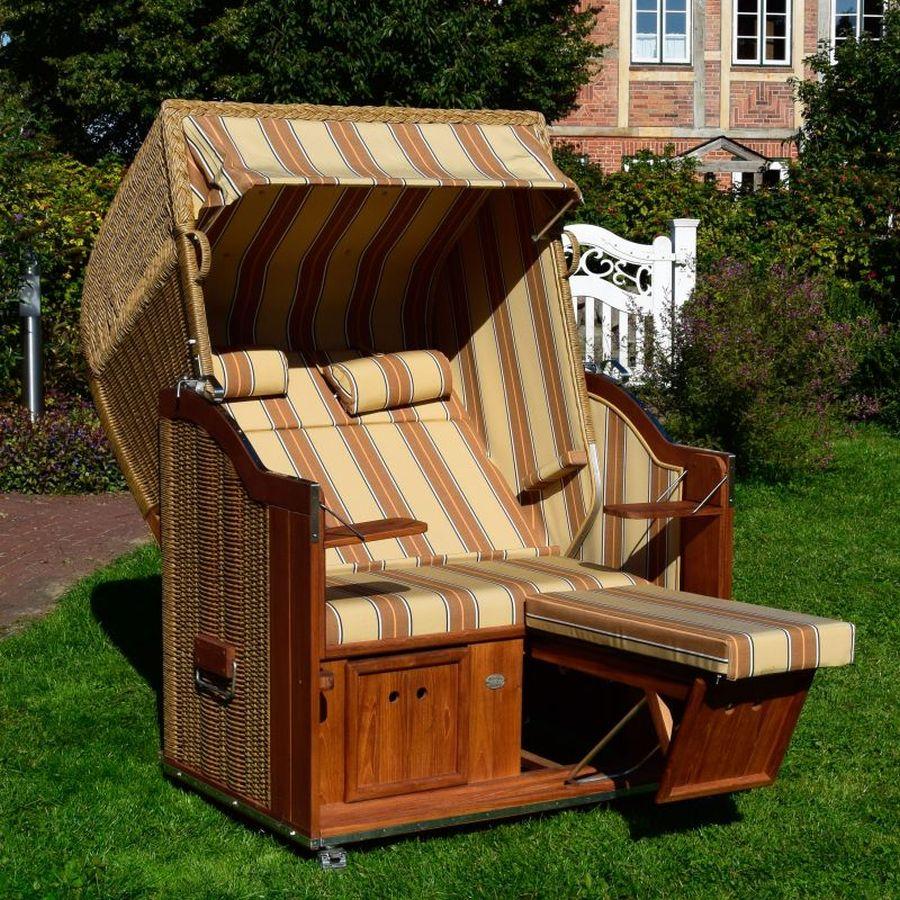 strandkorb classic teak geflecht rundgeflecht hyanzinthoptik dessin 185. Black Bedroom Furniture Sets. Home Design Ideas